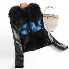 fe5eb52ab3f Real Fur Coat Genuine Leather Jacket Korean Mink Fur Fox Fur Coats  Sheepskin Coat Autumn Winter