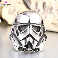 2017 New Design Stormtrooper Men Personality Ring Movie Style Star Wars Fashion 316 Stainless Steel Jewelry Free Shipping(China)