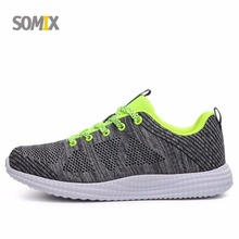 Somix 2017 New Breathable Mesh Men's Sports Shoes Light Running Shoes Men Outdoor Sneakers Comfortable Women Shoes Euro 35-44