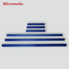 Micromake 3D Printer Parts Colorful V-slot Rail Aluminum Profile Extrusion 2020 12pcs/lot CNC Machine Building Part(China)