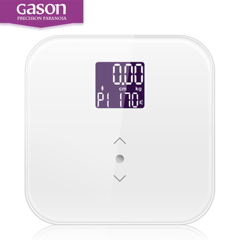 GASON S3 Smart Weigh Digital Precision Bathroom Digital Body floor Scale for Weight, Comparison, BMI with Auto Recognition 180kg