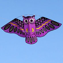 43 inch owl ainimal kite single line bird kite outdoor fun sports easy to fly for kids with flying line 4 colors(China)