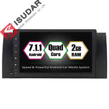 Full Touch Android 7.1.1 Two Din 9 Inch Car DVD Video Player For BMW/E39/E53/X5/M5 Quad Core 2G RAM Radio GPS Navigation FM(China)