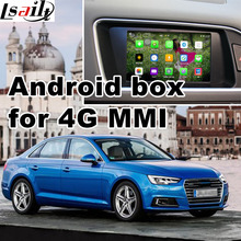Android GPS navigation box for Audi A4 2017 etc 4G MMI system video interface mirror link youtube facebook quad core(China)