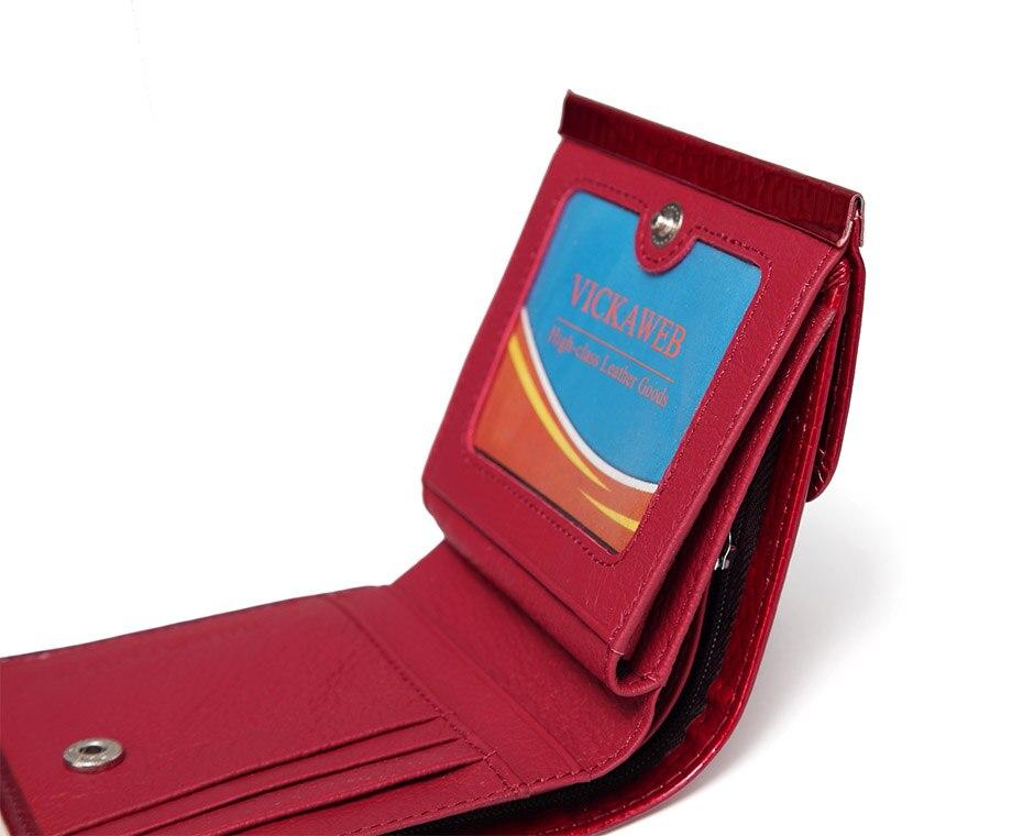 VICKAWEB Mini Wallet Women Genuine Leather Wallets Fashion Alligator Hasp Short Wallet Female Small Woman Wallets And Purses-AE209-016