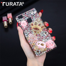 3D Handmade Glitter Diamond Bling Rhinestone Crystal Clear Hard PC Protective Back Cover For Huawei P9 Lite Capa Coque Fundas(China)