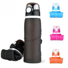 750ml Portable Novelty Gym Water Bottle Foldable Outdoors Silicone Leak-proof Traveling Sport Cycling Bottle Kettle Drinkware