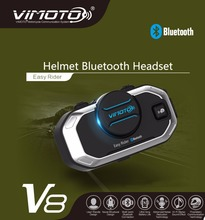 2017 Easy Rider vimoto V8 850mAh Helmet Bluetooth Headset Motorcycle Stereo Headphones For Mobile Phone and GPS Way Radios