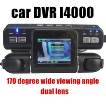 Allwinner A20 2x170 degree wide viewing angle dual lens G-Sensor car DVR video recorder camcorder(China)