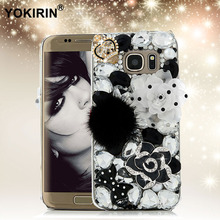 YOKIRIN 3D Rhinestone Case for Samsung Galaxy S7 Edge Bling Diamond Crystal Hard Plastic Protective Cover for Samsung S7edge(China)
