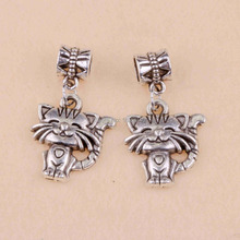 Wholesale 50 Pcs Fashion Tibetan silver Alloy Kitty Pendant For Bracelet Necklace Jewelry Making DIY Free Shipping D154