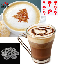 Valentine Celeration Christmas Party of 8Pcs Translucent Red Cupcake Decorating Latte Art Coffee Decorating Stencil