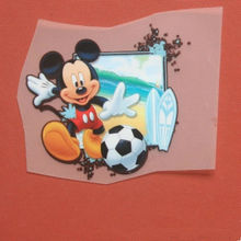 T56 Mitch mouse heat transfer printing paste offset PET film DIY cloth stamping patch applique patches