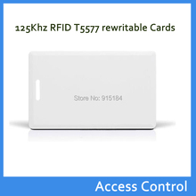 Free shipping 10pcs RFID Thick Clamshell Card 125KHz Writable Rewrite T5577 EM4305 Proximity Access Card duplicator card