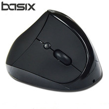 BASIX HOT SALE 2.4Ghz Wireless Mouse Optical Healthy Ergonomic Mouse 6 Buttons With DPI Vertical Mouse For Computer PC laptop(China)
