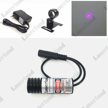 Focusable 405nm 150mW Violet/Blue Laser DOT Locator Module Diode + mount+adapter