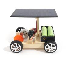 DIY Solar Hybrid Electric Vehicle Car Wooden Assembly with Rechargeable Battery Science Model Educational Toys IQ Intelligence(China)