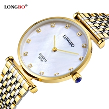 Buy LONGBO Brand Luxury Gold Couple Watches Business Style Lovers Men Women Waterproof Quartz Charms Analog Wristwatches for $13.99 in AliExpress store