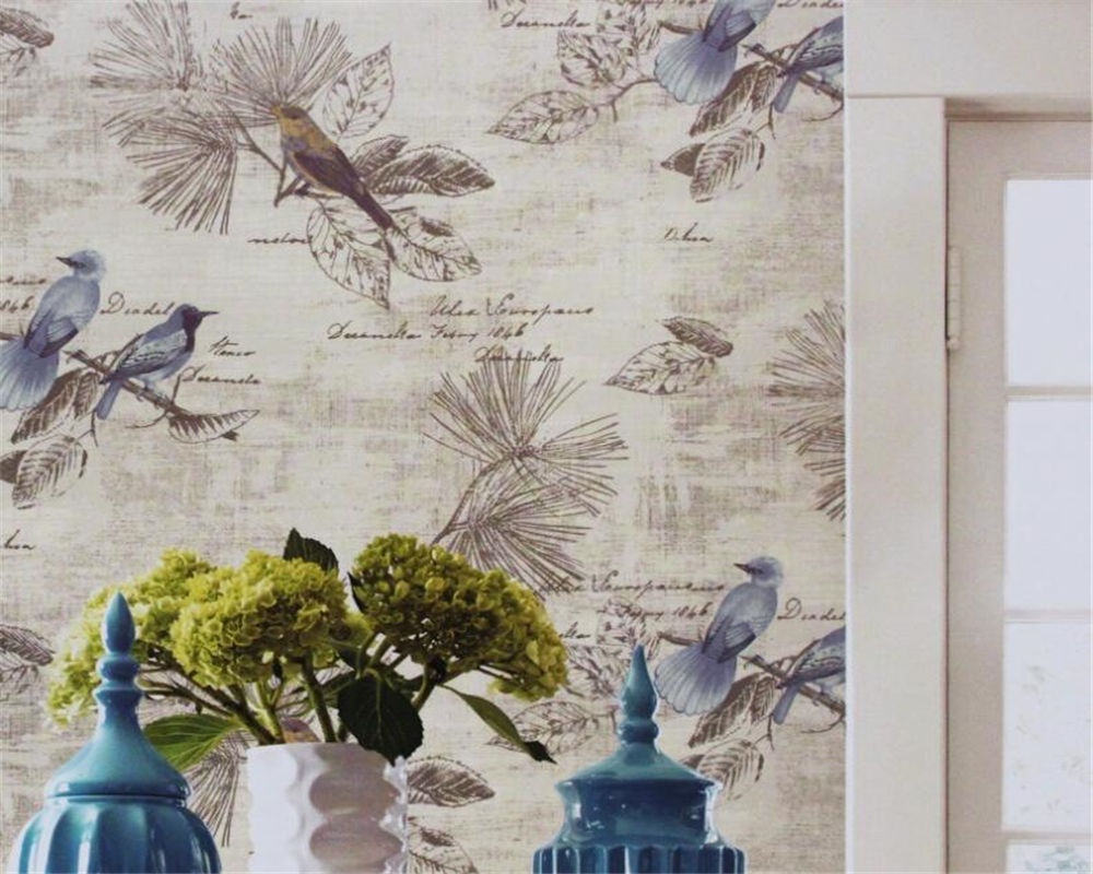 Beibehang high quality Classical flowers and birds 3D wallpaper retro  European style 3D living room restaurant 3D wallpaper<br>