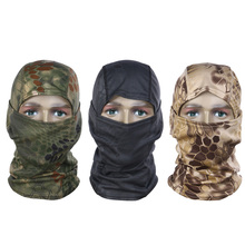 Camouflage Full Face Mask Quick-dry Hood Hunting Tactical Headscarf Balaclava Outdoor Bike Cycling Winter Warm Face Mask Hat(China)