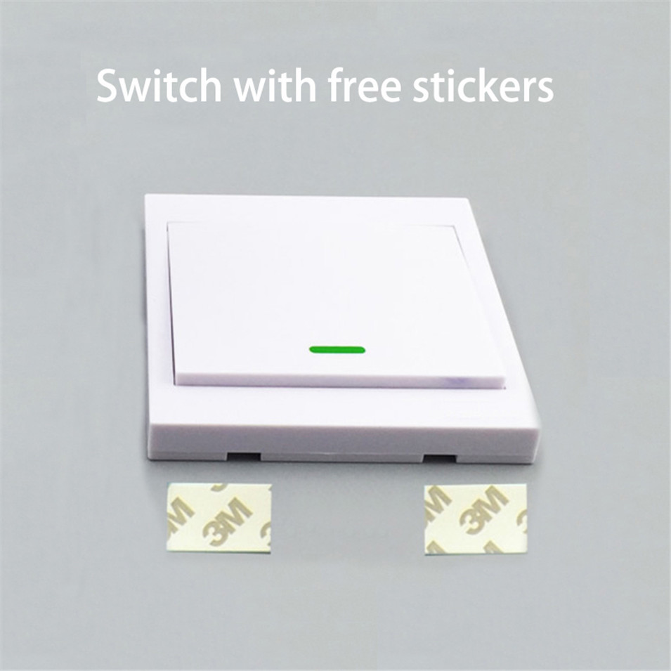 Sonoff 1 gang Touch Switch Remote controller ONOff Light Switch with Stickers Single Channel free position for Sonoff T1 switch-1