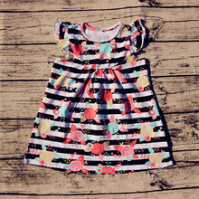 2017 New Design Fashion Ruffle Shirt Kids Pearl Top Floral Baby Shirts For Girls Clothes(China)