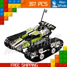 397pcs Techinic 2in1 Remote Controlled RC Tracked Racer 20033 DIY Model Cars Building Kit Blocks Gifts Toys Compatible With lego(China)
