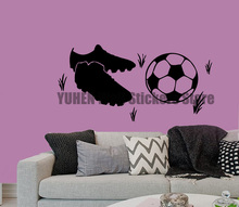 Wall Decals Soccer Ball Sport Shoes Sneakers Gumshoes Football Accessories Home Vinyl Decal Sticker Kids Nursery Baby Room Decor