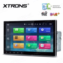 XTRONS 2 Din 10.1 inch HD Android 6.0 Octa Core Universal Car Radio Stereo DVD Player GPS Navigation OBD TPMS DAB+Steering wheel