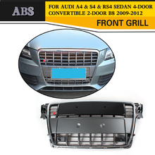 A4 B8 S4-Styling ABS Front Mesh Grill Grille Chromed Frame for Audi A4 & S4 & RS4 Sedan 4-Door Convertible 2-Door B8 2009-2012