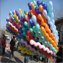 10Pcs/lot New Fashion Giant Rubber Helium Spiral Latex Balloons Wedding Birthday Party Decoration Ballons Inflatable toys(China)