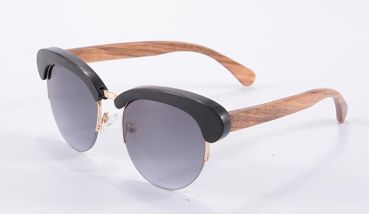 Half Wooden Frame Sunglasses Women Men Fashion Eyewear UV400 Mirror Glasses Occhiali Da Sole 6097<br><br>Aliexpress