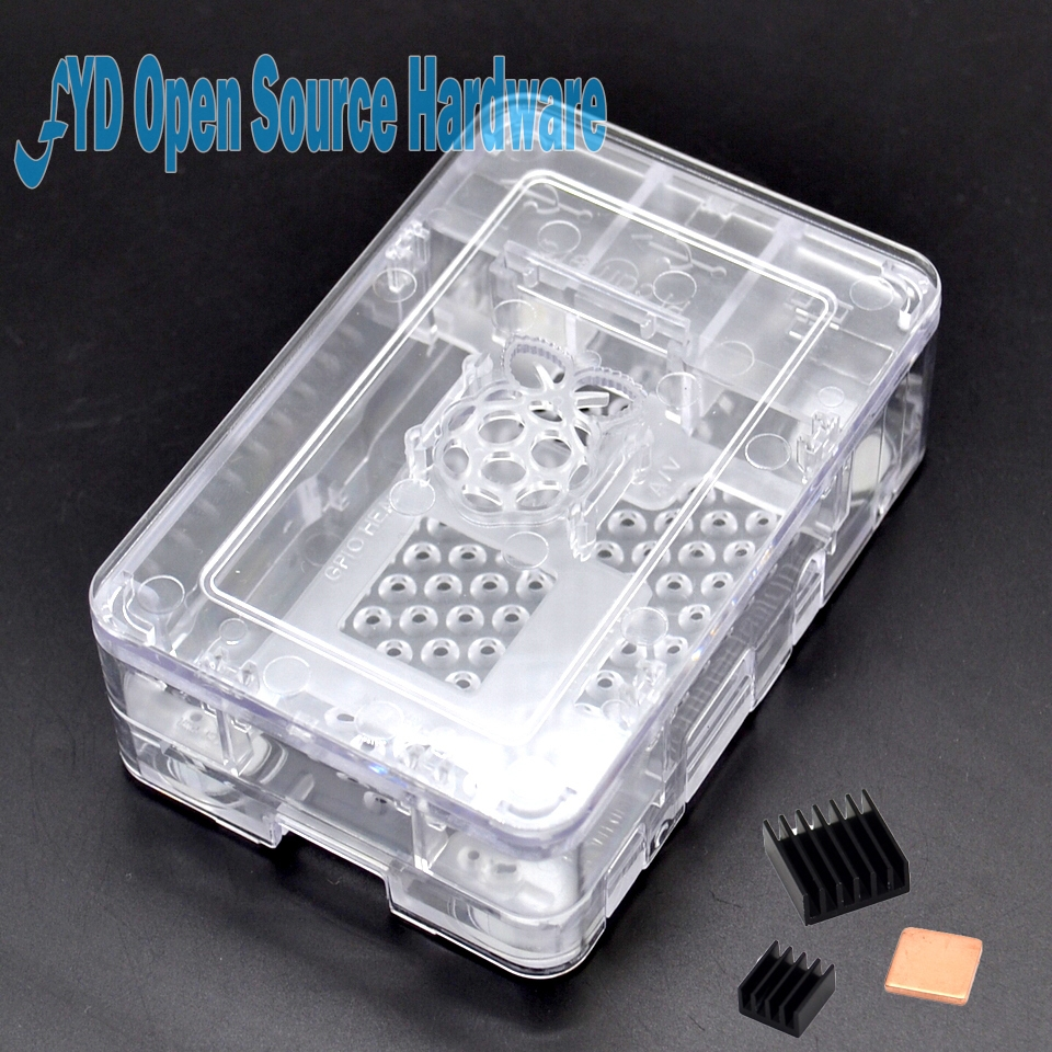 Raspberry Pi 3 ABS Case  Transparent Box Cover Shell Compatible Raspberry Pi 2 Model B B+