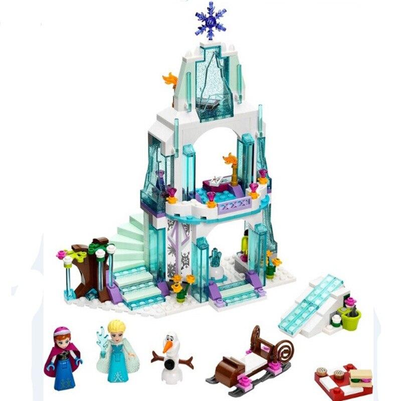 New Arrival Princess Castle Building Blocks Anna Elsa Educational Brick Ice Castle Play Set Gift For Girl 316pcs/lot<br><br>Aliexpress