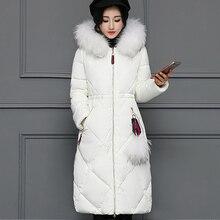 2017 Nuevo invierno las mujeres pato abajo chaqueta femenina Parkas  espesamiento ropa de abrigo cuello de 8f2ad88b89ff