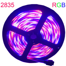 SMD RGB LED Strip light 5m DC 12V 5050 2835 60leds/m 30leds led light led tape diode ribbon waterproof 5m/roll strip no power