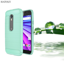 HATOLY For Capa Motorola Moto G3 Case Anti-knock Soft TPU Brushed Rugger Silicone Hybrid Phone Cases For Motorola Moto G3 XT1541(China)