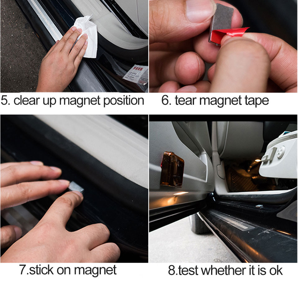 car door light welcome lamp auto decoration bulb car brand logo projector (19)