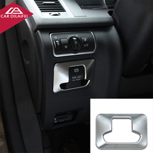 For volvo xc60 s60 v60 s80 Electronic Handbrake Frame Cover Trim Sequins Stainless Steel Decoration Strip 3D sticker