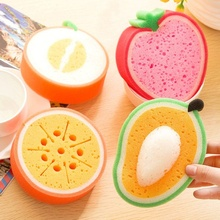 Hot 1 PCS Fruit Shape Sponge Pad Eraser Cleaner Colorful Simple Cleaning Tool Home Kitchen Office Car Dirty Cleaning Tools(China)