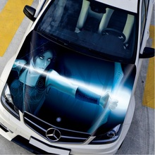 Car Styling DIY Creative Waterproof HD Inkjet Head Sticker Engine Hood Stickers Car Accessories Protection Film