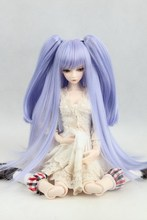 BJD doll wigs Lavender hair Tiger clip double ponytail high temperature wire hair -  1/3 1/4 1/6