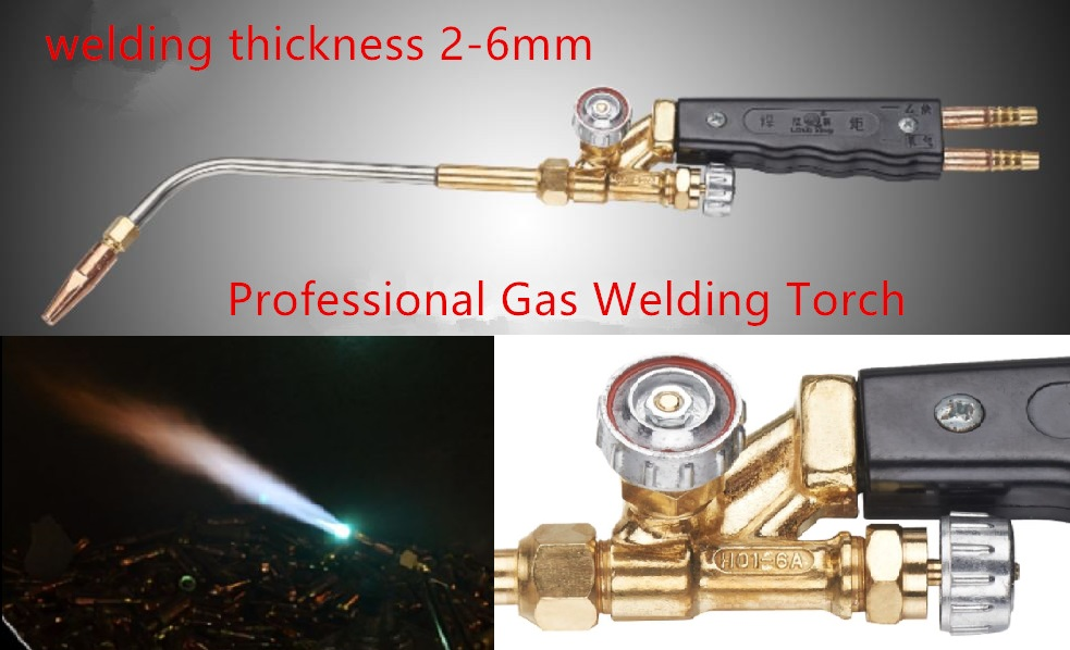 Professional Gas Welding Torch H01-6B Copper Body 304 Stainless Steel Pipe suitable Welding 2-6mm Steel<br><br>Aliexpress