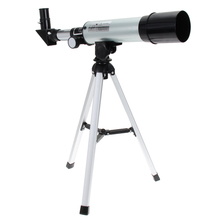 2017 Silver F36050M 360/50mm Refractive Outdoor Monocular Astronomical Telescope With Portable Tripod Spotting Scope(China (Mainland))