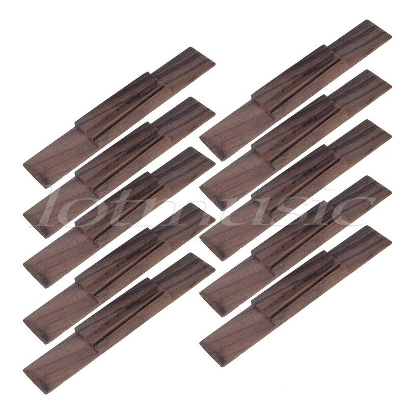 10pcs Rosewood Wood 39 inch Classical Guitar Bridge Parts<br>