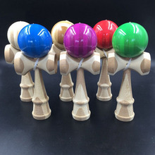 Kids Wooden Kendama Coordinate Ball Japanese Traditional Skillful Juggling Wood Game Ball Bilboquet Skill Educational Toy Gift