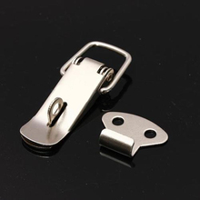 4Pcs Stainless Steel Hasp Lock Spring Toggle Latch Catch Lock For Case Chest Box Locks(China)