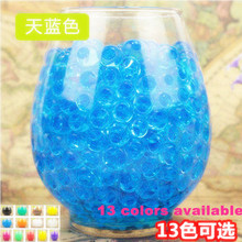 1000pcs/lot 2.5mm to 3mm Crystal soil/Crystal ball/sea baby high quality grow up 15mm hydrogel beads water holder for home decor(China)