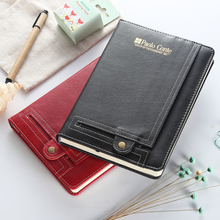 New business office leather pocket notebook,classic personal organizer /conference record ,2 language English and Spanish A5