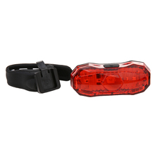 Endurable ABS material luces de la bicicleta Bike Bicycle 5 LED Red Back Safety Warning Tail Rear Light Bicycle Accessories